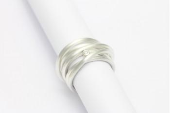 Wickelring - Silber mit Brillant