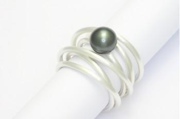 Wickelring - Silber mit Tahiti-Perle