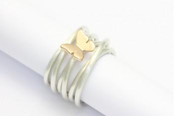 Wickelring Silber mit Schmetterling aus Rotgold