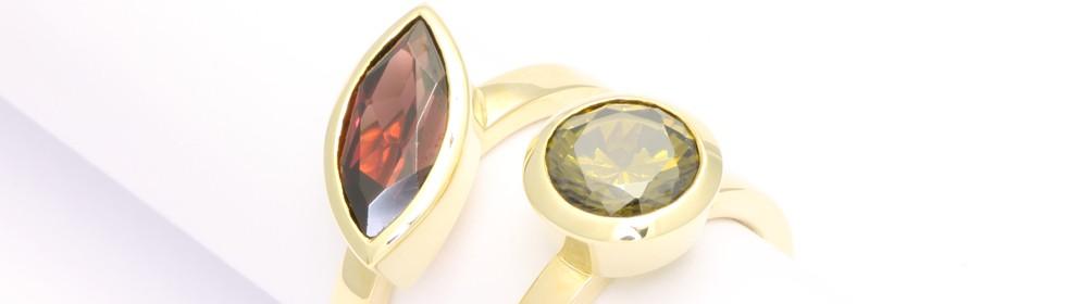 5 - Granat-Peridot-Ringe